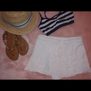 Solitaire swim white swim skort / skirt coverup